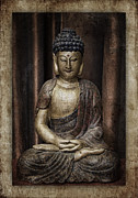 Buddha Photo Metal Prints - Sitting Buddha Metal Print by Carol Leigh