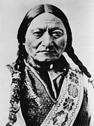 Eyes To Camera Framed Prints - Sitting Bull 1831-1890 Lakota Sioux Framed Print by Everett