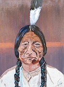 Bill Manson Paintings - Sitting Bull by Bill Manson