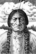 Chief Iron Tail Prints - Sitting-Bull Print by Gordon Punt