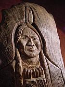 Carving Sculptures - Sitting Bull by Jack Brown