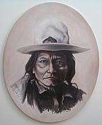 Michael Tmad Finney Painting Posters - Sitting Bull Poster by Michael  TMAD Finney