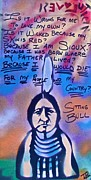 Conservative Painting Framed Prints - Sitting Bull...country Framed Print by Tony B Conscious