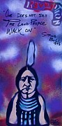 Sit-ins Prints - Sitting Bull...Land Print by Tony B Conscious