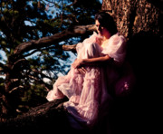 Woman In A Dress Photo Posters - Sitting in a tree Poster by Scott Sawyer