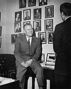 Congressman Prints - Sitting In Front Of A Wall Print by Everett