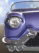 Purple Hot Rod Posters - Sitting Pretty Poster by Mike McGlothlen