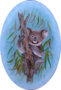 Koala Paintings - Sitting Pretty by Rita Palm