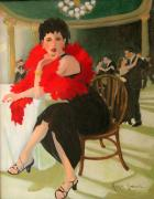 Ballroom Paintings - Sitting This One Out by Roxanne Rodwell