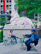 Nyc Digital Art Originals - Sitting with Patience by Lou Spina