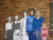 Genealogy Metal Prints - Six Generations of Women Metal Print by Betty Pieper