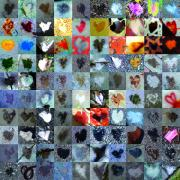 Grid Of Heart Photos Digital Art - Six Hundred Series by Boy Sees Hearts