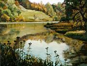 Six Mile Creek Ithaca Print by John Clum