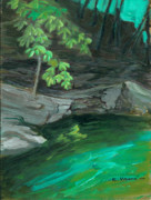 Region Paintings - Six Mile Creek Ithaca New York by Ethel Vrana