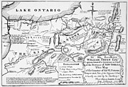 Lake Drawings Posters - Six Nations Map 1771 Poster by Granger