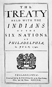 Coat Of Arms Prints - Six Nations Treaty, 1742 Print by Granger