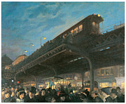 Sloan Paintings - Six Oclock by John Sloan