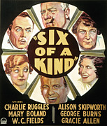 Gracie Posters - Six Of A Kind, Clockwise, W.c. Fields Poster by Everett