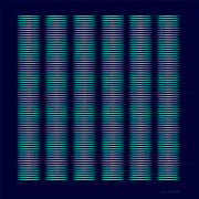 Op Art Digital Art Originals - Six Smoking Columns by Ken Schneider