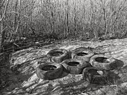 Stippling Art - Six Tires by Janeen Wassink Searles