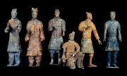 Qin Shi Huang Framed Prints - Six Types Of Soldiers Were Found Among Framed Print by O. Louis Mazzatenta