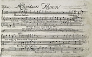 Flagg Posters - Sixteen Anthems Music, 1766 Poster by Granger