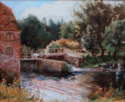 Newton Art - Sixtenth Century Watermill in Sturminster Newton Dorset England by Ethel Vrana