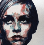 Twiggy Painting Metal Prints - Sixties Sixties Sixties Twiggy Metal Print by Paul Lovering