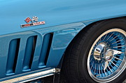Hubcap Art - Sixty Six Corvette Roadster by Robert Harmon