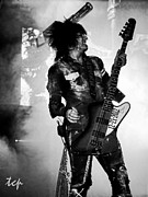 Nikki Sixx Framed Prints - Sixx Framed Print by Traci Cottingham