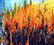 Wildfire Paintings - Sizzlescape by Holly Carmichael