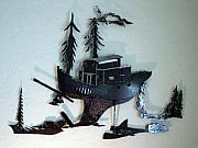 Fishing Sculptures - Skag  SOLD by Steve Mudge