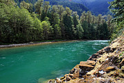 North Cascades Metal Prints - Skagit River North Cascades National Park Metal Print by Pierre Leclerc