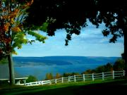 Lakes Digital Art - Skaneateles Lake by Cynthia Prado