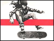 Sports Art Mixed Media Prints - Skate Print by Dan Haraga