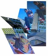 Malmo Paintings - Skateboard  by Art Nomad Sandra  Hansen