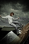 Skate Photo Originals - Skateborder in action by Hedge