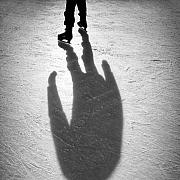Ice Skates Photos - Skater by David Bowman