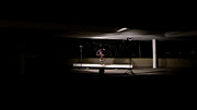Skate Photo Originals - Skater jumping a ramp at night in Rio by Hedge
