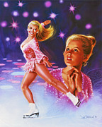 Skating Posters - Skaters Dream Poster by Dick Bobnick