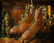 Antique Skates Posters - Skates Poster by Karen Lynch