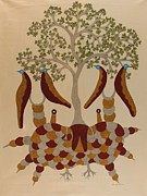 Gond Tribal Art Painting Originals - Skd 09 by Suresh Kumar Dhurve