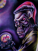Human Skeleton Paintings - Skel-A-Clause by Big Mike Roate