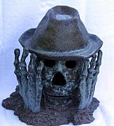 Hat Ceramics - Skeletell Man by Tom Sellas