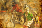 Unreal Prints - Skeleton Crew Print by Norma Warden