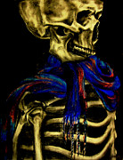 Creepy Pastels Prints - Skeleton Fashion Victim Print by Tylir Wisdom