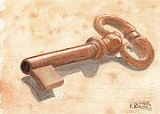 Ken Prints - Skeleton Key Print by Ken Powers
