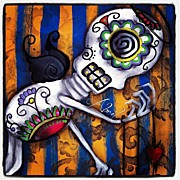 Instagroove Art - Skeleton Painting by  Abril Andrade Griffith