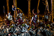 Miniatures Art - Skeletons Patrolling The Cursed Forest by Marc Garrido