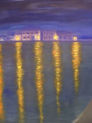 Beams Paintings - Skerries night by Maurice Noble